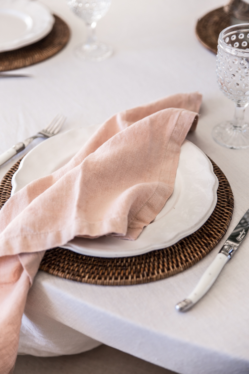 DIY avocado dyed linen napkins