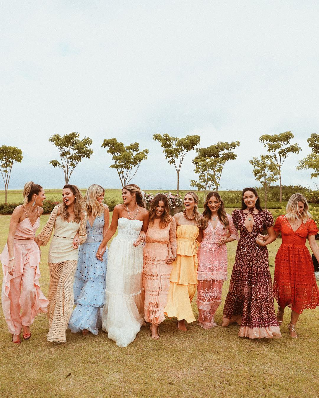 mixed print bridesmaid dresses