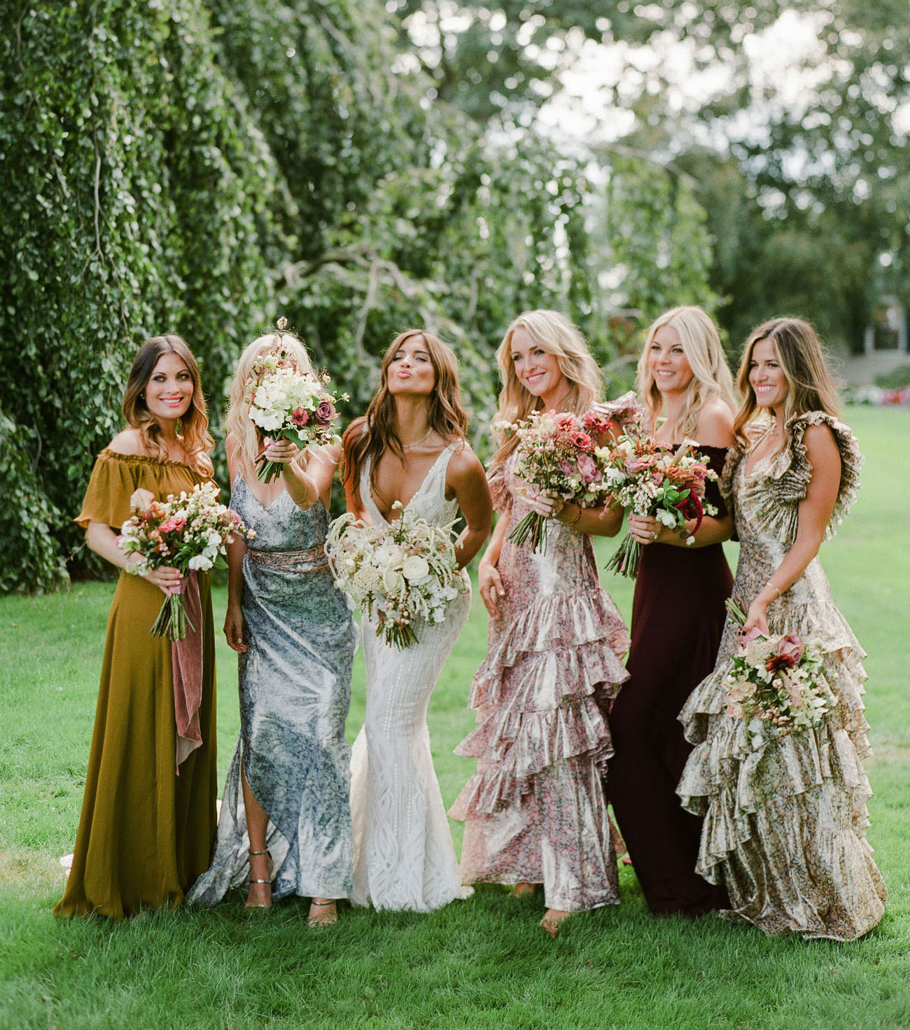 custom ruffled bridesmaid dresses