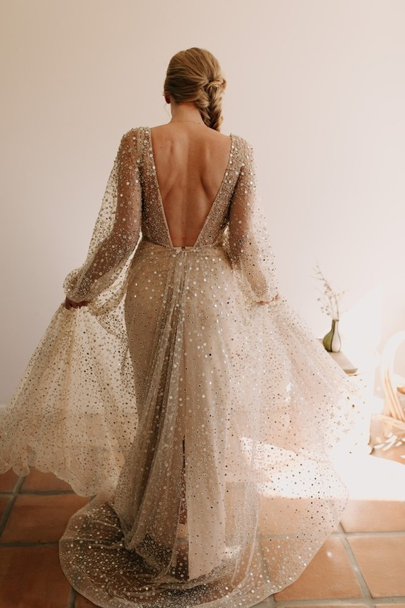sparkly wedding dress