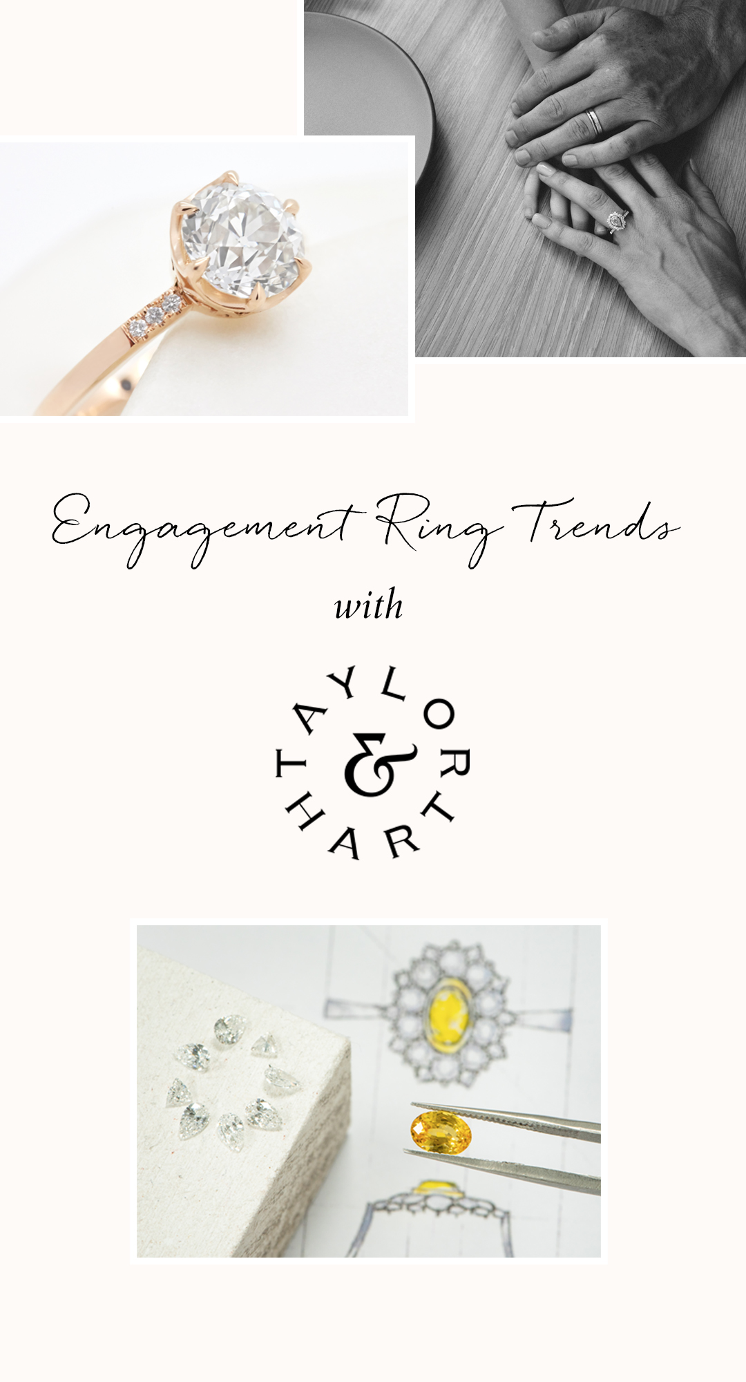 Top engagement ring trends in 2020 by Taylor & Hart