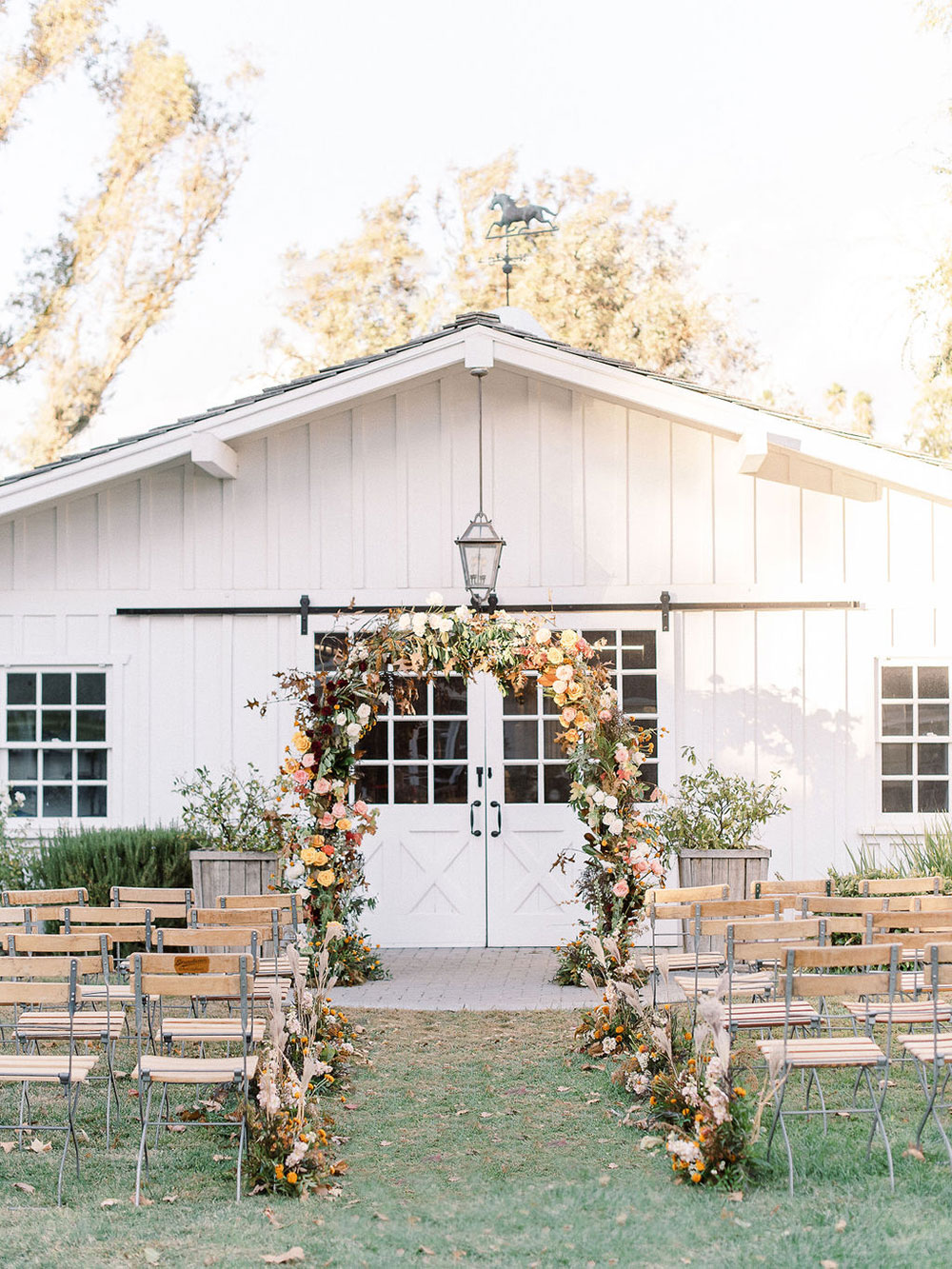 Modern, ethereal ranch wedding inspiration
