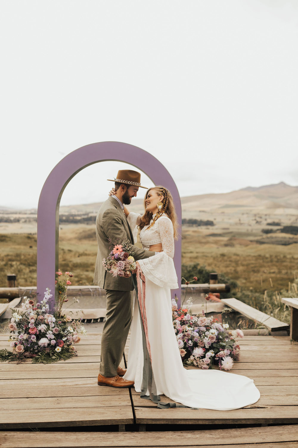 cute and colorful elopement inspiration