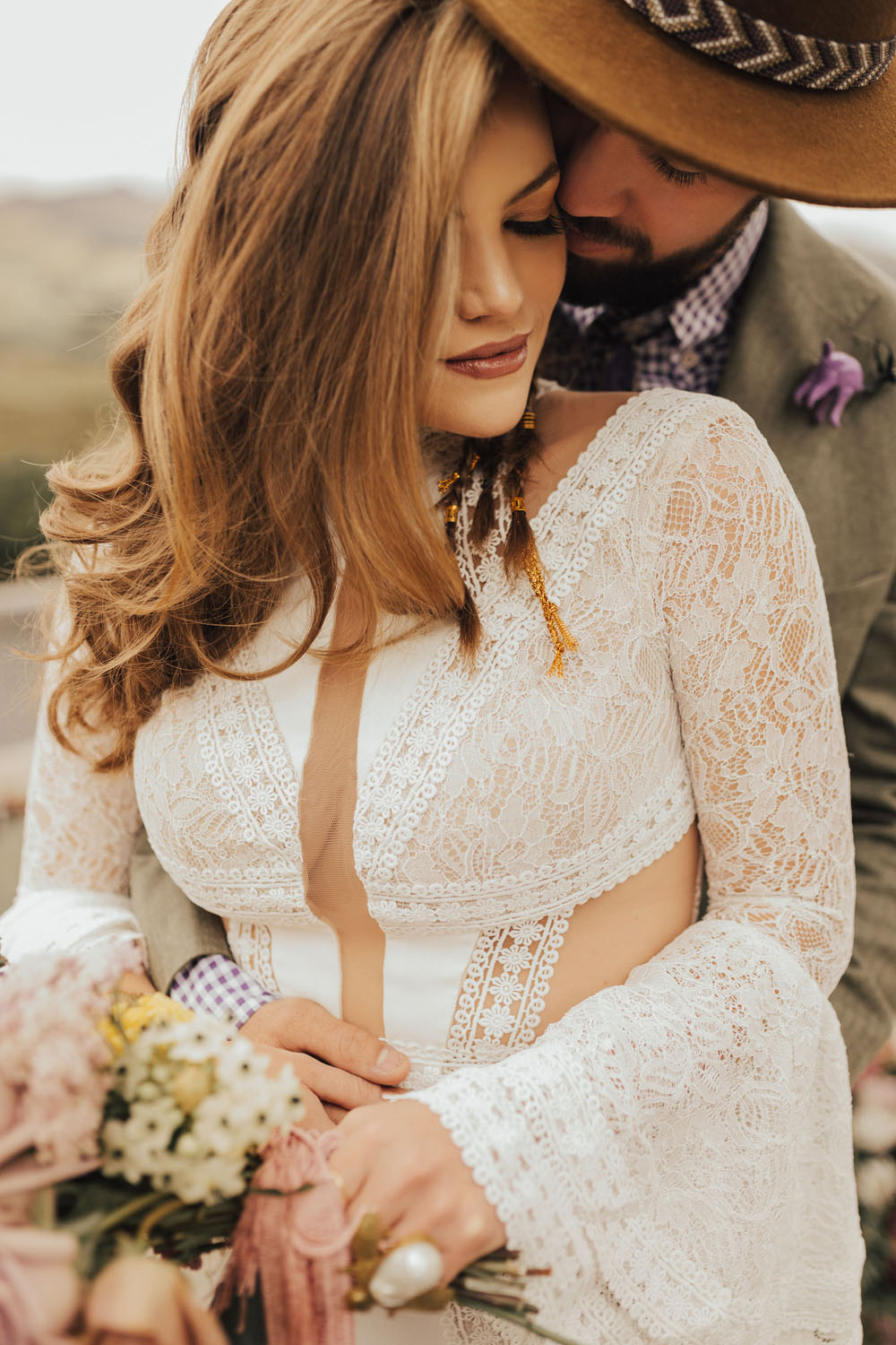 cute & colorful spring elopement
