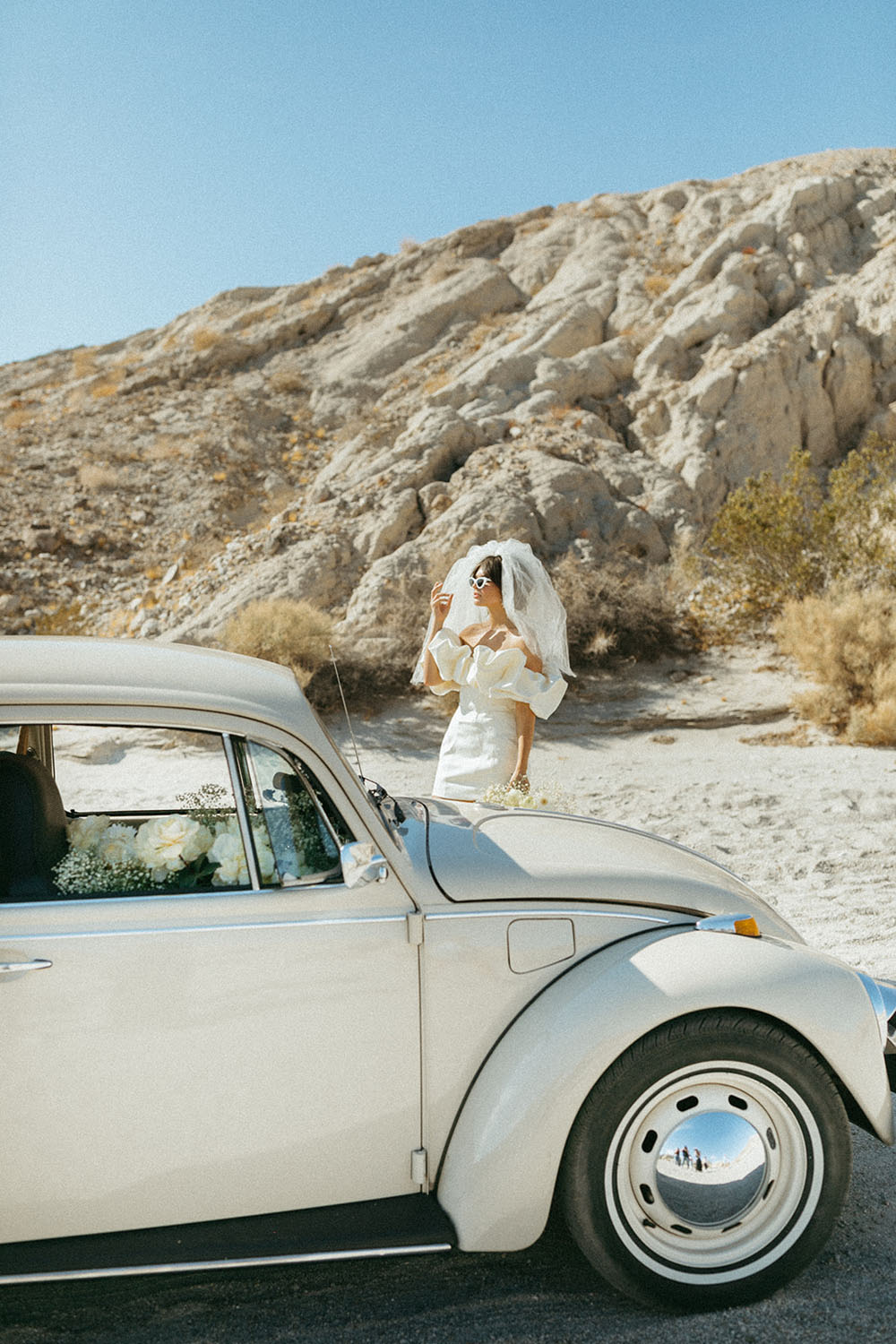 etro bridal style with the most adorable mini dress!