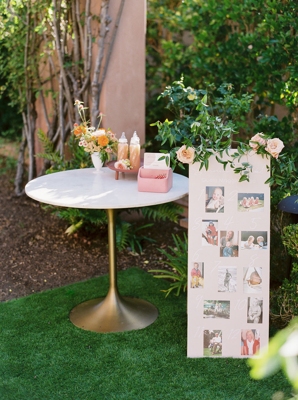 Pretty peach baby shower by Amorology